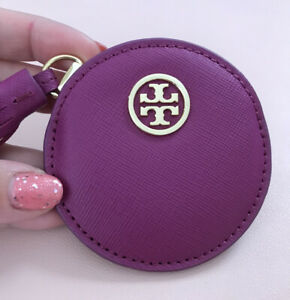 💖 Brand New Tory Burch Robinson Compact Mirror Raspberry Pink CUTE & RARE! 🎀