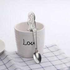 Cute Stainless Steel Mermaid Hanging Coffee Spoon Ice Cream Teaspoon Tableware