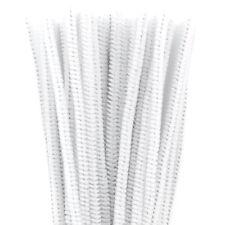 Lot de 50 chenilles 6mm * 30cm blanc