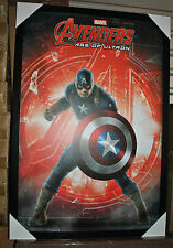 Captain America Age of Ultron Fire Large Framed textured poster Marvel Avengers