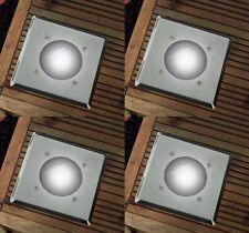 12 x Luz de tierra de energía solar Terraza Patio LED de iluminación al aire libre de suelo jardín