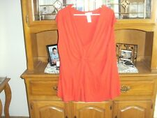 ladies used size 3x  red sleeveless top ciaggi