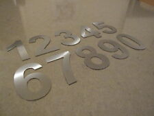 Stainless House Letterbox Numbers 75mm High 1.5mm Thick Brushed 316 Marine Grade