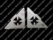 2 Iron Cross Roll Cage Corner Gussets Off Road Buggy 4x4 Chopper Hot Rat Rod