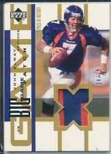JOHN ELWAY 2002 UPPER DECK GAME USED jersey PATCH /25