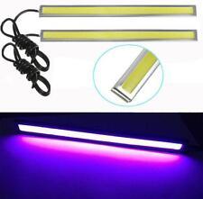 1Pair Purple Super Bright COB LED Light DRL Fog Driving Lamp Waterproof 17cm 12V
