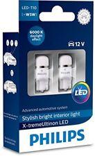 Philips Vision Xenon White LED Bulbs W5W T10 Car Bulbs 6000K 127996000KX2