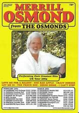 MERRILL OSMOND TOURPOSTER KONZERTPLAKAT UK TOUR 2004 - THE OSMONDS