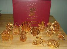 Danbury Mint 2004 Gold Christmas Ornament Collection w/Box -- Set of 12