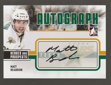 (56677) 2009-10 ITG HEROES and PROSPECTS AUTOGRAPH MATT BEAUDOIN #A-MBE