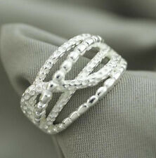 925 Solid Sterling Silver Plated Women/Men NEW Fashion Ring Gift SIZE OPEN H202