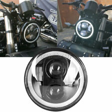 5.75 5 3/4 LED Projector Daymaker Headlight Halo Angle Eye Hi/Lo For Harley DOT