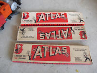 Lot of 3 Vintage HO Scale Atlas Brass Turnout Switch Track Sections in Boxes