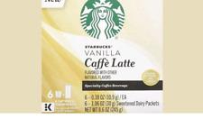 Starbucks Vanilla Caffee Latte K Cups Keurig K-Cups