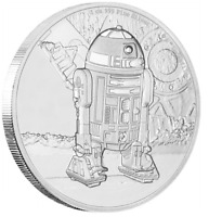 2016 STAR WARS R2-D2 1oz Silver Proof Disney Coin Perfect Gift