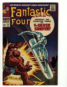 Fantastic Four #55 Silver age Dr. Doom vs Silver Surfer Wow! Fine+ No Reserve!