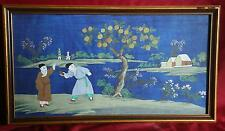 Korea Korean framed Watercolor Depicting Children in Landscape ca. 20th c.