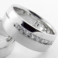 Silber 925 Trauringe Eheringe Verlobungsring 333 585 750 Weiß Gelb Rot Gold B17V