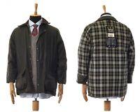Mens BARBOUR BEAUFORT Wax Waxed Jacket Coat Green Size C40/102cm L
