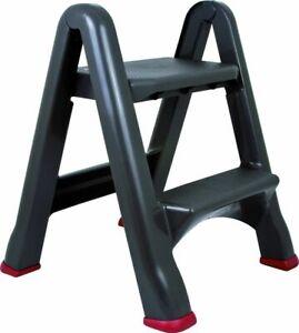 CURVER Tritt Leiter Hocker 2 Stufen schwarz/rot