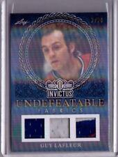 GUY LAFLEUR 17/18 Leaf Invictus Undefeatable Fabrics Triple Jersey Card #2/20