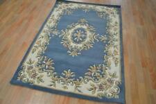 JEWEL WOOL Blue/Cream New Persian Design Floor Rug FIFTEEN SIZES FREE DELIVERY