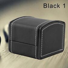 Leather Watch Jewelry Display Storage Holder Case 1 Grid Box Organizer Gift B GA