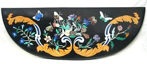 48 x 15 Inches Elegant Look Console Table Top Floral Design Inlaid Dinette Table
