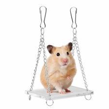 Safe Acrylic Pet Hamster Toy Swing- Gerbil Rat Mouse Bird Ladder Swing Toy SP