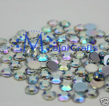 40pcs Crystal AB 16mm Flat Back Thick Taiwan Acrylic Rhinestones Craft Gems C38