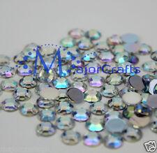 400pcs Crystal AB 6mm ss30 Flat Back Thick Taiwan Acrylic Rhinestones Gems C38