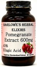 Pomegranate Extract 40% Ellagic Acid - Stearate Free, Bottled in Glass, VegiCaps