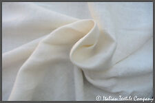 B59 PURE LINEN DOULE YARN HEAVY WEIGHT MILK WHITE RUSTIC WEAVE MADE IN ITALY