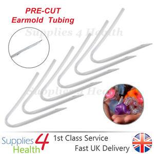 Hearing Aid Tubes PRE-CUT Bent BTE Earmold Ear Mold Tubing  x6 x12 x18 - CLEAR