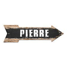 AP-0267 PIERRE Arrow Street Tin Chic Sign Name Sign Home man cave Decor