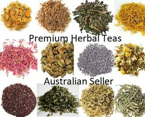 Dried Herbs HERBAL TEA Dry Flowers Organic 20g - 50g ..Eco Packaging available
