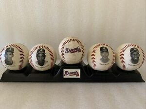 CHEVRON 5 ATLANTA BRAVES BASEBALL SANDERS GLAVINE JUSTICE PENDLETON W/display