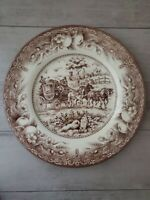NEW (2) Royal Stafford Thanksgiving Village Carriage Horses Salad Side Plates