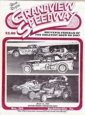 JULY 11, 1987 GRANDVIEW SPEEDWAY RACING PROGRAM MODIFIEDS AND LATE MODELS