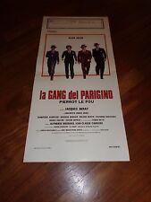 LOCANDINA ,1977,La gang del parigino Pierrot le Fou ALAIN DELON DERAY