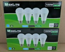 8 Bulbs LED 15W Daylight 5000K A19 100W Replacement by Maxlite Dimmable 8 Pack