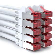 10x 0,25m CAT6 Patchkabel Netzwerkkabel Ethernet LAN DSL Netzwerk Kabel Weiß