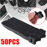 50Pcs Reusable Black Cable Cord Nylon Strap Hook Loop Ties Tidy Organiser Tool ~