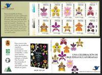 Ecuador Orchids 10v Booklet MNH SG#2902-2911 MI#2948-2957