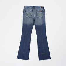 7 For All Mankind Womens 29w Long Leg 34L Slim Bootcut Blue Jeans