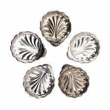 "Set of 5 Silver Shell Dish / Bowls, Silverplate Marked Epb Sweden, 4"" Wide"