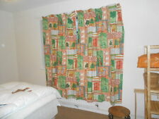PAIR OF JANE CHURCHILL LINED INDIAN SUMMER CURTAINS  180 X 128 cm