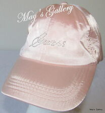 GUESS Jeans Baseball Hat Hats Rhinestones log NWT One size Cap Adjustable Pink