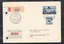 Switzerland 1947  cover, Maiden Voyage Swissair Geneva - New York SC#42,321