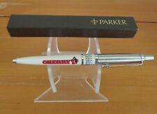 """5"""" Parker Ball Point Push Top Pen Calendar Window England 1C Blue Ink CHERRY"""